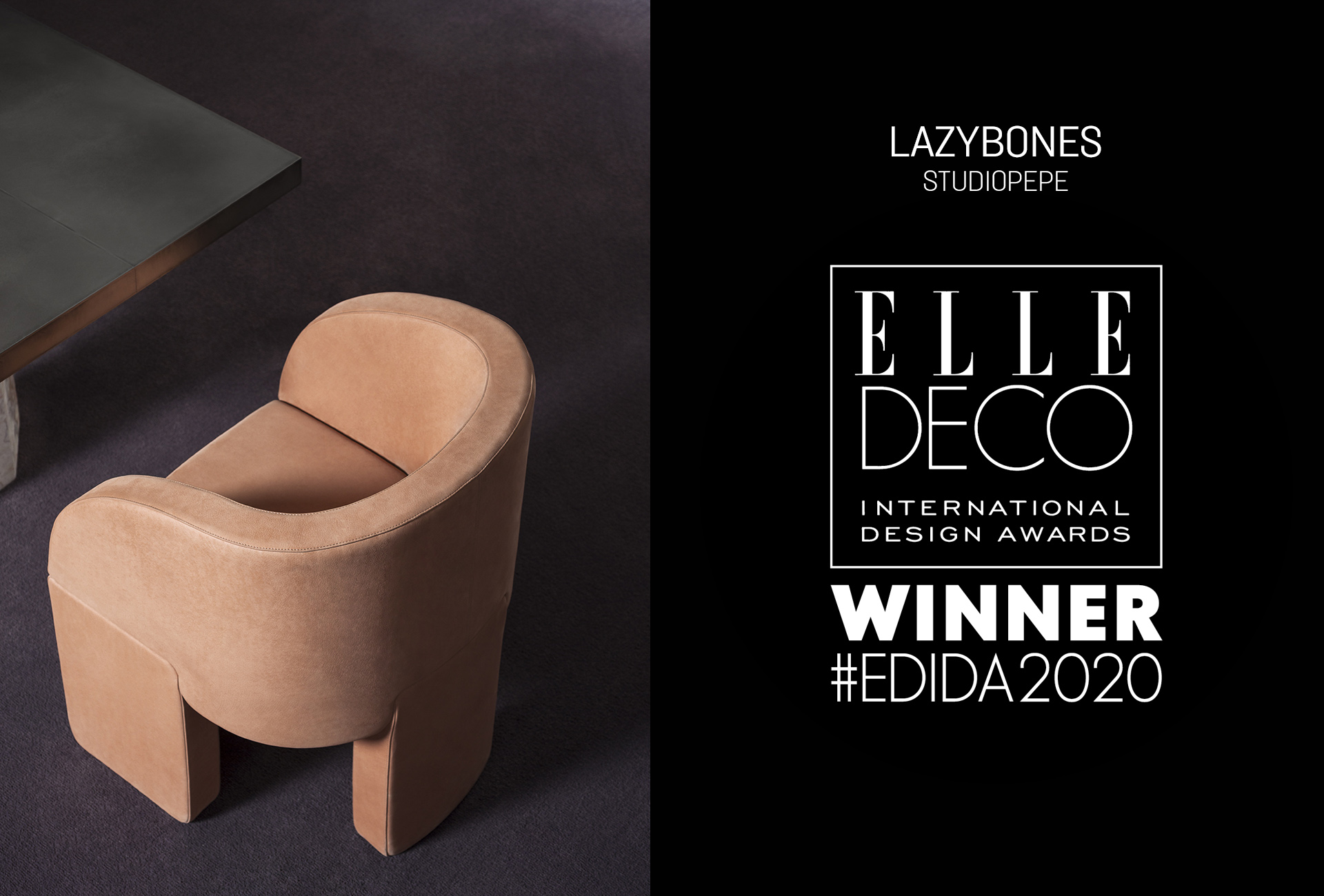 ELLE DECO INTERNATIONAL DESIGN AWARDS 2020 LAZYBONES