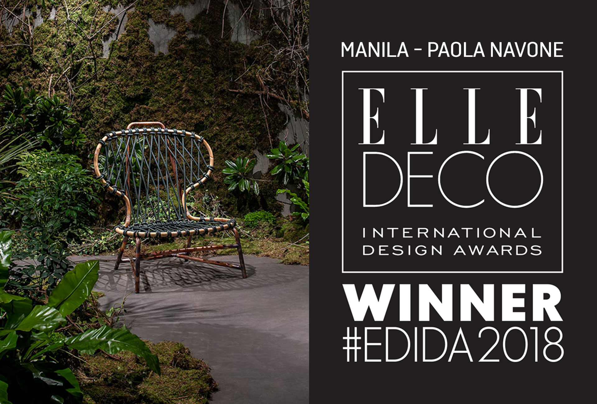 ELLE DECO INTERNATIONAL DESIGN AWARDS 2018